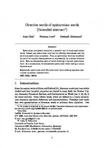 Directive words of episturmian words (Extended ...