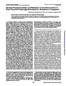 Directly Energized Uptake of -Estradiol 17-( - D-Glucuronide) in Plant ...