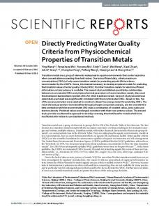 Directly Predicting Water Quality Criteria from