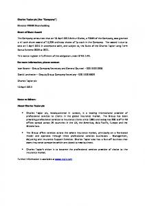 Director/PDMR Shareholding 12 April 2013 - Arthur Clarke Share ...