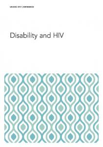 Disability and HIV - unaids
