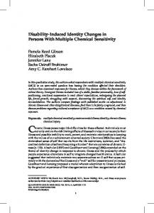 Disability induced identity changes in persons with