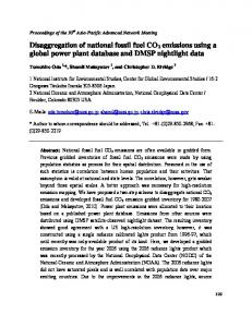 Disaggregation of national fossil fuel CO2 emissions ...