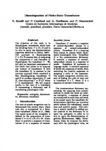 Disambiguation of Finite-State Transducers - Association for ...