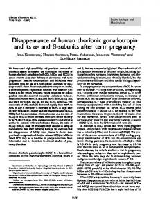 Disappearance of human chorionic gonadotropin ... - Clinical Chemistry