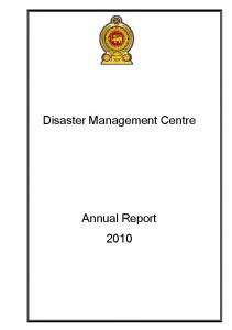 Disaster Management Centre Annual Report 2010