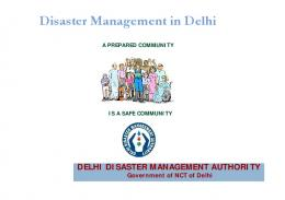 Disaster Management in Delhi
