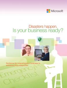 Disaster Preparedness e-Guide - IAMCP