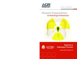 Disaster Preparedness for Radiology Professionals - American ...