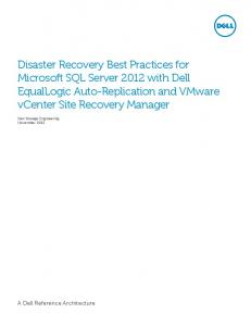Disaster Recovery Best Practices for Microsoft SQL Server ...