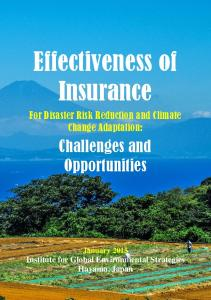Disaster Risk Reduction and Climate Change Adaptation ...