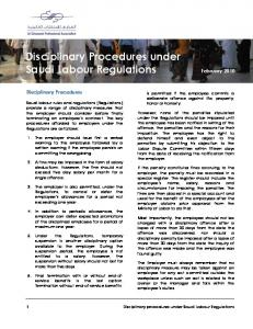 Disciplinary Procedures under Saudi Labour Regulations