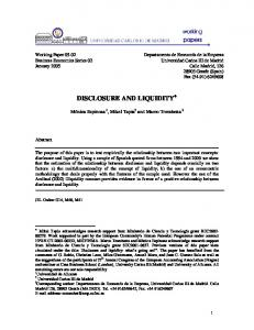disclosure interactions and the cost of equity capital: evidence ... - Core