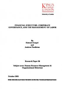 DISCLOSURE OF INFORMATION COLLECTIVE BARGAINING AND ...