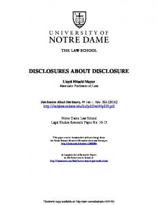 disclosures about disclosure