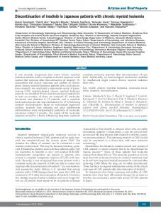 Discontinuation of imatinib in Japanese patients