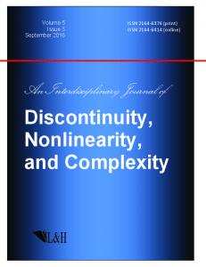 Discontinuity, Nonlinearity, and Complexity
