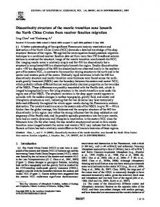 Discontinuity structure of the mantle transition zone beneath the North ...