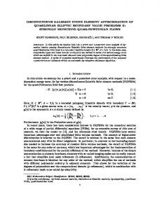 discontinuous galerkin finite element approximation of quasilinear ...
