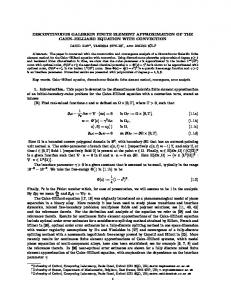 DISCONTINUOUS GALERKIN FINITE ELEMENT ... - CiteSeerX