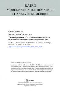 discontinuous-Galerkin finite element method for scalar conservation ...