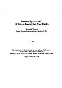 Discount by Account? Striking a Balance for Vote Choice