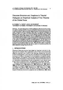 Discourse Structure and Anaphora in Tutorial Dialogues - School of ...