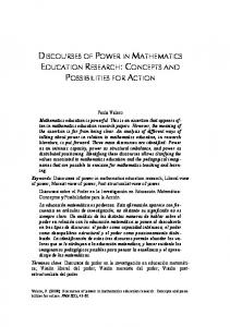 discourses of power in mathematics education research - Documat