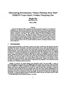 Discovering Evolutionary Theme Patterns from ... - Semantic Scholar