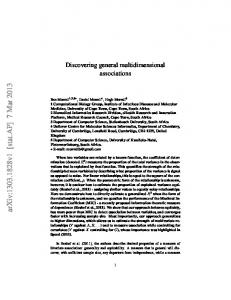 Discovering general multidimensional associations