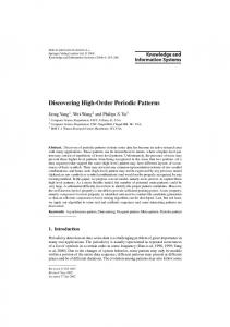 Discovering High-Order Periodic Patterns - UCLA CS