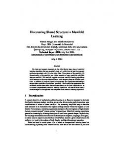 Discovering Shared Structure in Manifold Learning