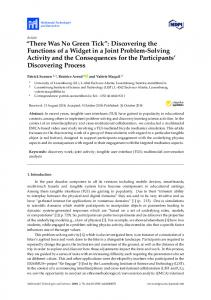 Discovering the Functions of a Widget in a Joint Problem ... - MDPI