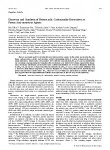 Discovery and Synthesis of Heterocyclic Carboxamide Derivatives as ...