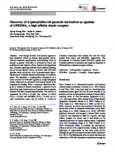 Discovery of 4-(phenyl)thio-1H-pyrazole derivatives as ... - Springer Link