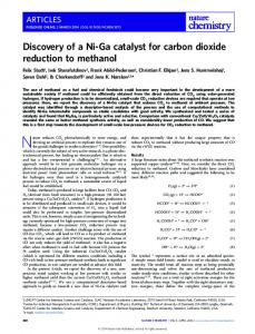 Discovery of a Ni-Ga catalyst for carbon dioxide