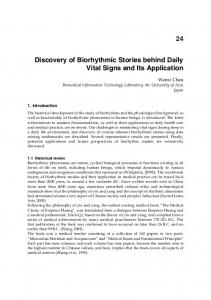 Discovery of Biorhythmic Stories behind Daily Vital