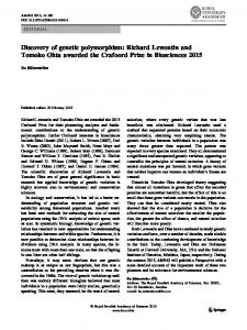Discovery of genetic polymorphism: Richard Lewontin ... - Springer Link