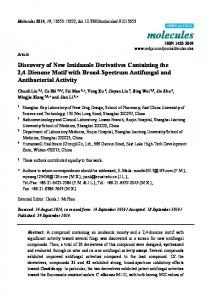 Discovery of New Imidazole Derivatives ... - Semantic Scholar