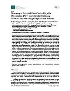 Discovery of Potential Plant-Derived Peptide Deformylase (PDF) - MDPI