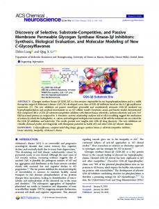Discovery of Selective, Substrate-Competitive, and ... - ACS Publications