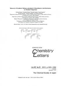Discovery of Synthetic Methoxy-substituted 4
