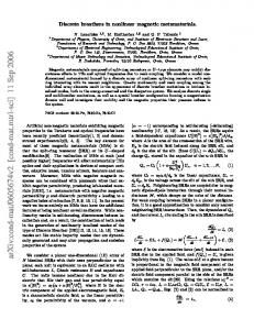 Discrete breathers in nonlinear magnetic metamaterials