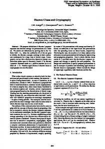 Discrete Chaos and Cryptography - ieice