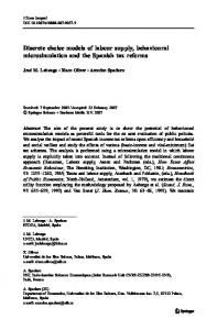 Discrete choice models of labour supply, behavioural ... - UIB es