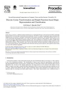 Discrete Cosine Transformation and Height Functions ... - ScienceDirect