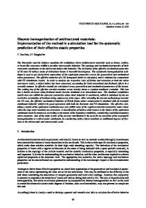Discrete homogenization of architectured materials: Implementation of ...