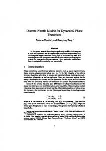 Discrete Kinetic Models for Dynamical Phase