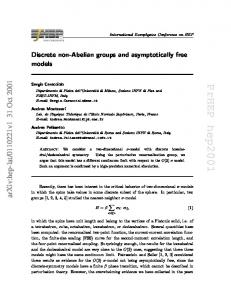 Discrete non-Abelian groups and asymptotically free models