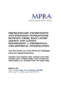 discretionary enforcement and strategic interactions between firms ...